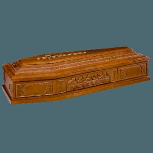 Гроб деревянный шестигранный 7uc
