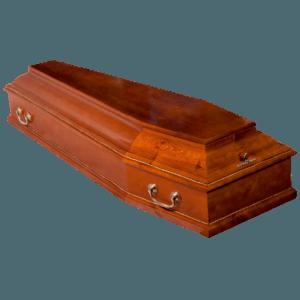 Гроб деревянный шестигранный сосновый