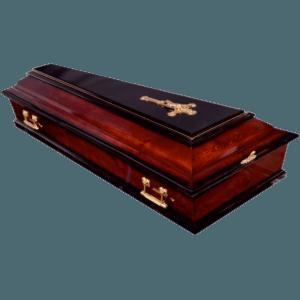 Гроб деревянный Б-4 лакированный