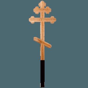"""Крест деревянный дубовый восьмиконечный ажурный """"Вечная память"""""""