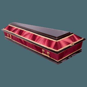 Гроб деревянный комбинированный 2