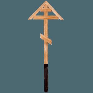 Крест деревянный дубовый старообрядческий домиком