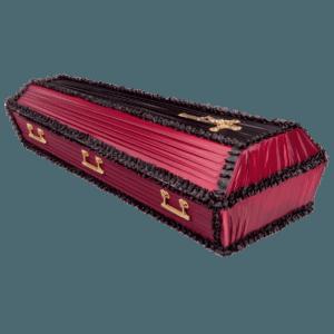 Гроб деревянный продольный