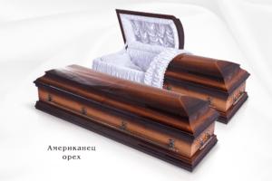 """Гроб элитный """"Американец"""" - орех"""
