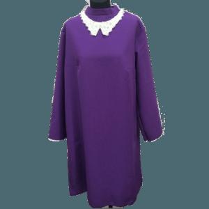 Женское фиолетовое платье для похорон
