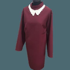 Женское платье винно-красного цвета для похорон