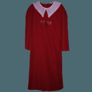 Женское тёмно-красное платье для похорон